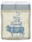 Country Farm Friends Duvet Cover