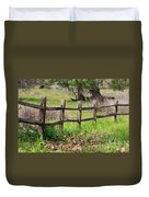 Country Fence Duvet Cover