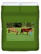 Country Girls Duvet Cover