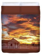 Country House Sunset Longmont Colorado Boulder County Duvet Cover by James BO  Insogna