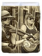 Country In The French Quarter 3 Sepia Duvet Cover