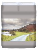 Country Lane In The Lakes Duvet Cover