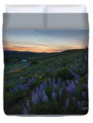 Country Meadow Sunset Duvet Cover
