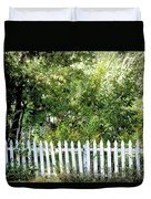 Country Picket Fence Duvet Cover