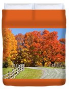 Country Road Autumn Duvet Cover