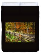 Country Road In Autumn Forest Duvet Cover