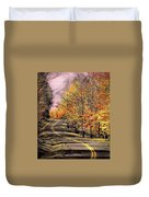 Country Road In Autumn Duvet Cover