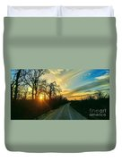 Country Road Please Take Me Home Duvet Cover