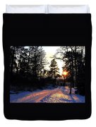Country Road Sunset Duvet Cover