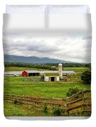 Country Scenic In West Virginia Duvet Cover