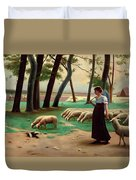 Country Shepherdess  Duvet Cover