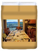 Country Table Setting Duvet Cover