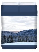 Country Winter Road Duvet Cover
