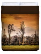 Countryscape With Bell Tower Duvet Cover