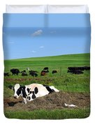 Countryside Cows Duvet Cover