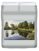 Countryside Park Pond Duvet Cover