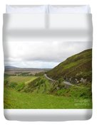Countryside Road Bends Around Hill Duvet Cover