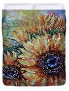 Countryside Sunflowers Duvet Cover