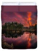 County Farm Sunset Duvet Cover