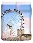 County Hall And London Eye Duvet Cover