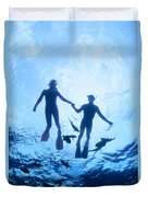 Couple At The Surface Duvet Cover