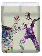 Couple Dancing Ballet Duvet Cover