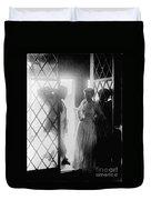 Couple In Doorway Duvet Cover