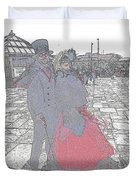 Couple In Red Duvet Cover