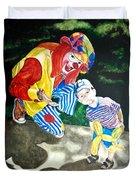 Couple Of Clowns Duvet Cover