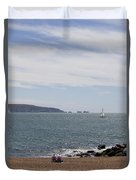 Couple Relaxing  Enjoying The View Duvet Cover