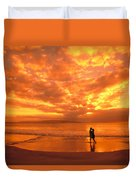 Couples Vacation Duvet Cover