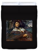 Courbet: Self-portrait Duvet Cover