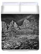 Court Of The Patriarchs II - Bw Duvet Cover