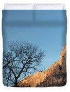 Court Of The Patriarchs Sunrise Zion National Park Duvet Cover