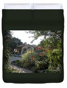Court Yard At Mission Carmel Duvet Cover