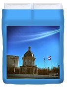 Courthouse And Flags Duvet Cover