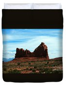 Courthouse Rock In Arches National Park Duvet Cover