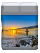 Courtney Campbell Bridge Sunrise - Tampa, Florida Duvet Cover