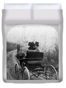 Courtship/carriage Ride Duvet Cover