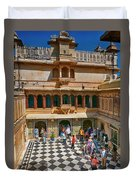 Courtyard, City Palace, Udaipur Duvet Cover