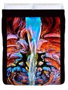 Courtyard Fountain Duvet Cover