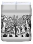 Courtyard Palm Duvet Cover