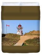 Covehead Harbour Lighthouse 5701 Duvet Cover