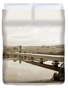 Very Long Covered Bridge Over A River Duvet Cover