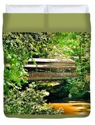 Covered Bridge At Lanterman's Mill Duvet Cover