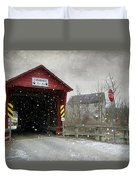 Covered Bridge In Logan Mills Duvet Cover