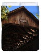 Covered Bridge In Woodstock Duvet Cover