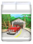 Covered Bridge Lincoln Duvet Cover