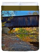 Covered Bridge Over The Cold River Duvet Cover
