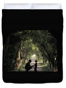 Covered Bridge Silhouettes In Mount Duvet Cover